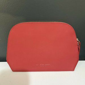 Burberry Beauty Red Makeup Pouch/Travel Bag